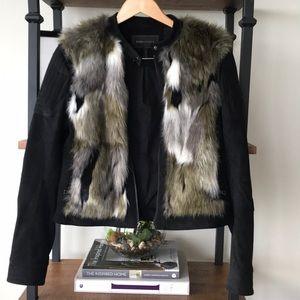 Black/ foe fur Blazer